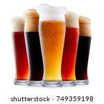 mug collection of frosty dark... | Shutterstock . vector #749359198