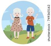 albino kids. albinism. children ... | Shutterstock .eps vector #749365162