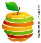 sliced apple | Shutterstock .eps vector #74936524