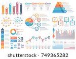 infographic elements   bar and... | Shutterstock .eps vector #749365282