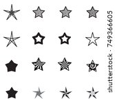 star icons isolated on white...