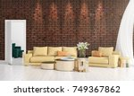 modern interior design of... | Shutterstock . vector #749367862