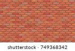 brick wall. seamless tile... | Shutterstock .eps vector #749368342