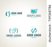 geek logo. programmers icon | Shutterstock .eps vector #749368786