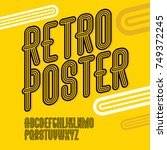 vector trendy retro uppercase... | Shutterstock .eps vector #749372245