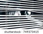 closeup shot of sexy young... | Shutterstock . vector #749373415