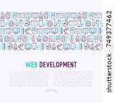 web development concept with... | Shutterstock .eps vector #749377462