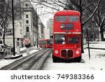 route master bus in the street... | Shutterstock . vector #749383366