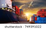 logistics and transportation of ... | Shutterstock . vector #749391022