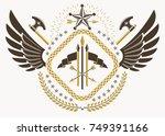 vector illustration of old... | Shutterstock .eps vector #749391166