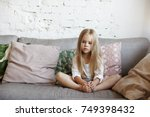 indoor picture of beautiful... | Shutterstock . vector #749398432