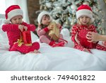 children in christmas | Shutterstock . vector #749401822
