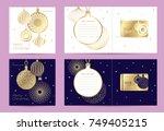 gift new year   christmas card... | Shutterstock .eps vector #749405215