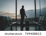 young tourist man standing in... | Shutterstock . vector #749408812