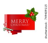 sale christmas banner with... | Shutterstock .eps vector #749409115