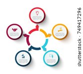 business data visualization.... | Shutterstock .eps vector #749417296
