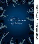 invitation frame design... | Shutterstock .eps vector #749428558