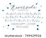 riverside   handwritten script... | Shutterstock .eps vector #749429926