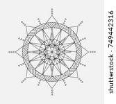 mandala for coloring. circular... | Shutterstock .eps vector #749442316