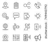 thin line icon set   pointer ...   Shutterstock .eps vector #749443792