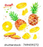 watercolor illustrations set of ... | Shutterstock . vector #749459272