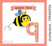 letter q lowercase cute... | Shutterstock .eps vector #749460526