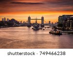 the iconic tower bridge in... | Shutterstock . vector #749466238