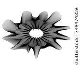 abstract flower head design... | Shutterstock .eps vector #749474326