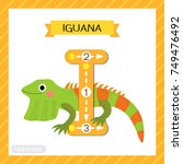 letter i uppercase cute... | Shutterstock .eps vector #749476492