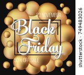 abstract vector black friday... | Shutterstock .eps vector #749483026