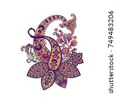 isolated paisley pattern in... | Shutterstock .eps vector #749483206