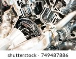 cutting view of engine and... | Shutterstock . vector #749487886