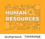 human resources. vector... | Shutterstock .eps vector #749490988