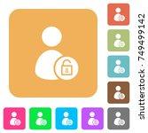unlock user account flat icons...   Shutterstock .eps vector #749499142