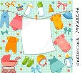 cute frame for scrapbook new...   Shutterstock .eps vector #749500546