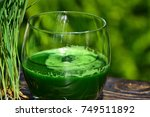 Wheat Grass And A Glass Of...