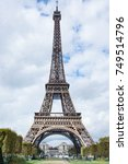 popular eiffel tower in paris... | Shutterstock . vector #749514796