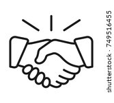 handshake icon. deal symbol.... | Shutterstock .eps vector #749516455