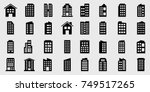 icons building vector... | Shutterstock .eps vector #749517265