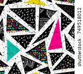 abstract vector seamless... | Shutterstock .eps vector #749518012