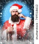 handsome bearded santa claus