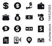 16 vector icon set   dollar ... | Shutterstock .eps vector #749519305