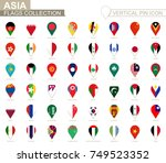 vertical pin icon  asia flag... | Shutterstock .eps vector #749523352