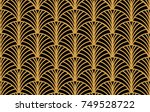 art deco seamless pattern... | Shutterstock .eps vector #749528722