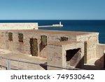 fort saint elmo and lighthouse... | Shutterstock . vector #749530642