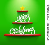 merry christmas lettering on...