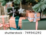 christmas or new year's gift | Shutterstock . vector #749541292