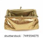 gold coin purse close up full... | Shutterstock . vector #749554075