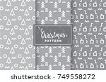 seamless christmas patterns.... | Shutterstock .eps vector #749558272