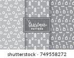 seamless christmas patterns....   Shutterstock .eps vector #749558272